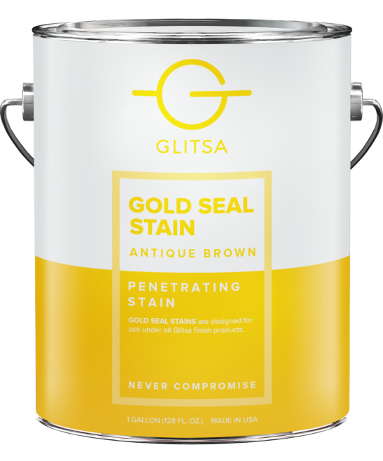 Glitsa Gold Seal Stain Antique Brown